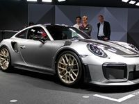 Porsche 911 GT2 RS:  la plus puissante - en direct du Salon de Francfort 2017