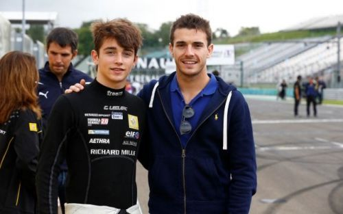 Leclerc races with two very special people always on his mind