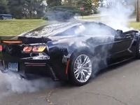 Il rate son burnout en Corvette C7 Z06