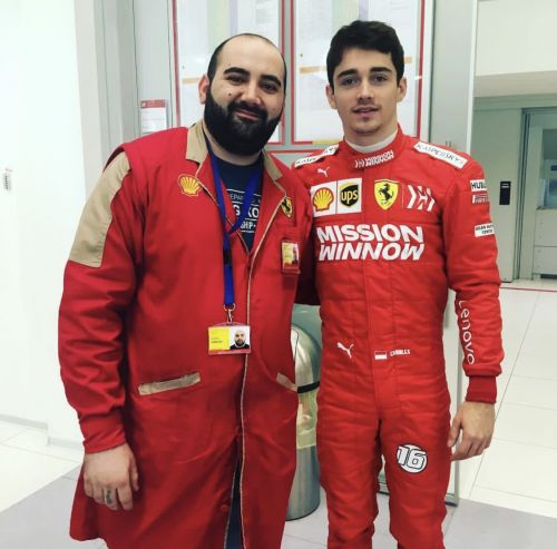 Leclerc suits up in Maranello for Scuderia seat fitting