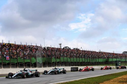 Hamilton hangs on in Brazil as Mercedes takes team title