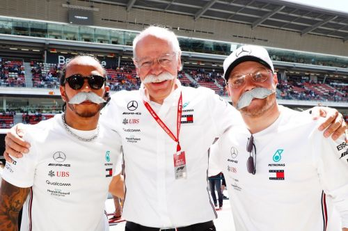 Mercedes drivers bid farewell to the boss in style