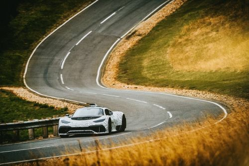 Mercedes' F1-powered Project One car hits the road