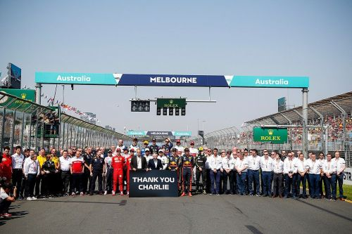 An emotional send-off from the F1 family