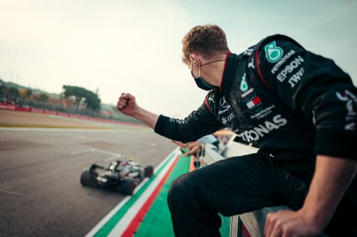 Gallery: Mercedes' record seventh title celebrations at Imola