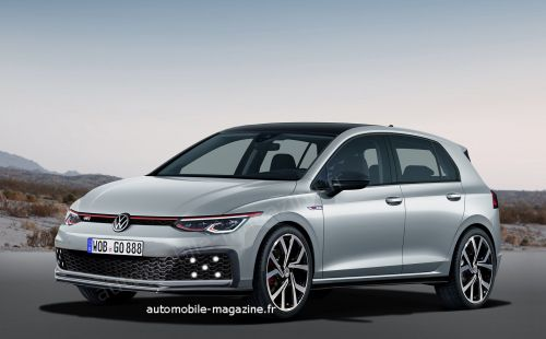 Scoop:  Notre illustration de la future Volkswagen Golf GTI 2020