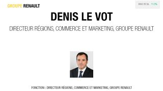 Renault:  Denis Le Vot, directeur regions, commerce et marketing