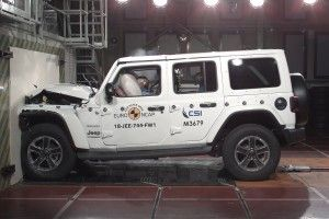 Jeep Wrangler (2018):  1/5 aux crash-tests !