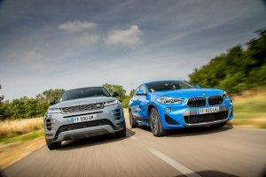 Match:  Range Rover Evoque (2019) vs BMW X2