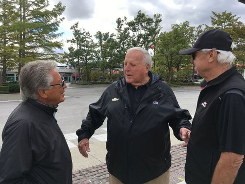 IndyCar royalty hold court at the Speedway