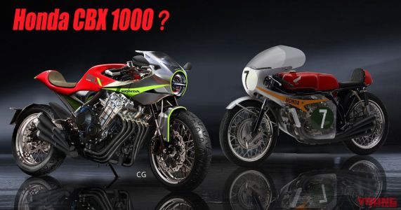 Honda CBX 6-cylindres. la projection de Young Machine