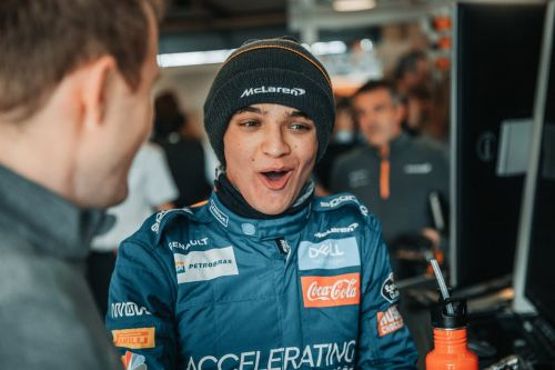 Break out the milk for Lando Norris!