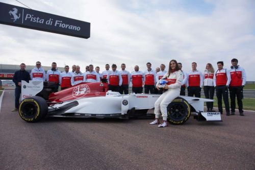Tatiana Calderon puts in the miles with Sauber at Fiorano