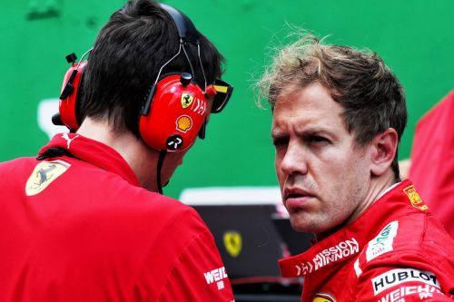 Vettel's race in Brazil compromised by sensor issue