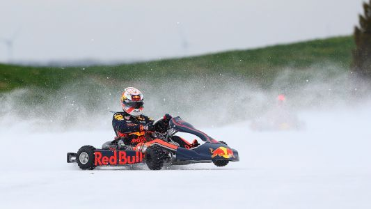 Video: Verstappen and Gasly's ice cool karting action