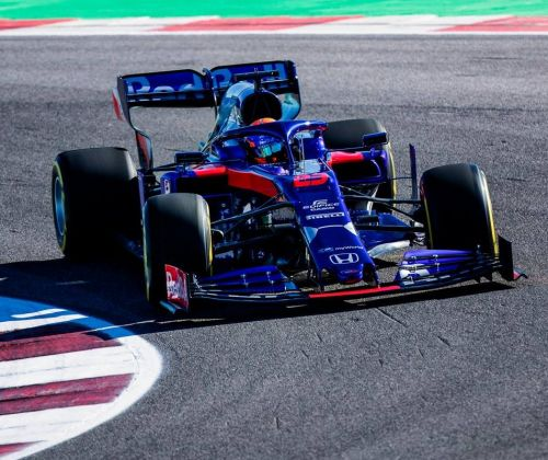 Toro Rosso's STR 14 in action at Misano