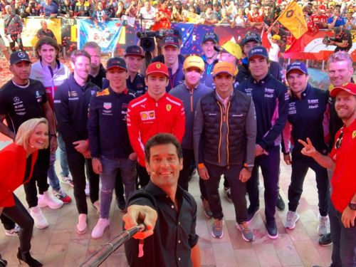 A selfie view of Formula 1's class of 2019