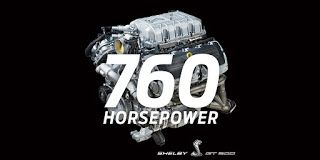 2020 Ford Mustang Shelby GT500, 760 chevaux et 847 nm ou 625 lb-pi