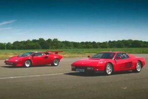 The Grand Tour:  Testarossa contre Countach !