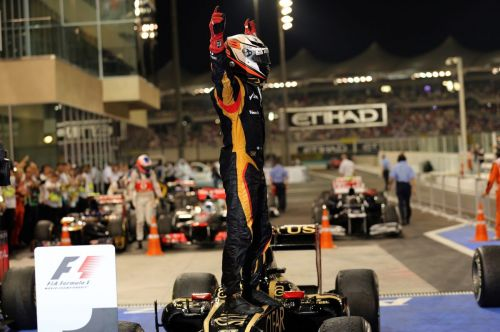 When the Iceman returned to victory lane in Abu Dhabi