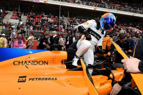 McLaren now racing on a  Alonso