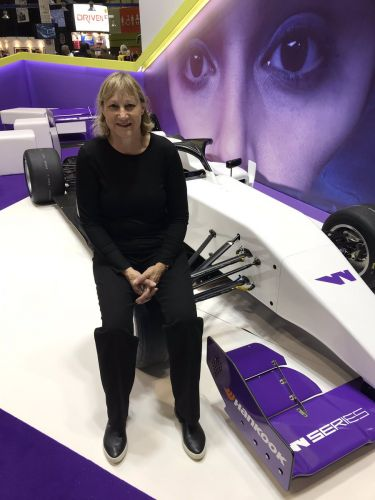 The only woman ever to win an F1 race visits the W Series