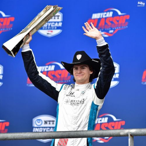 IndyCar celebrates Colton Herta, its youngest winner ever!