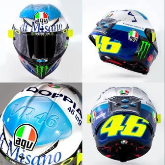 Le casque Misano 2020 de Rossi en photos !