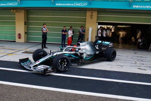 One final roll-out for Mercedes and Russell