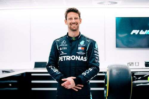 F1. Romain Grosjean au volant d'une Mercedes au GP de France 2021