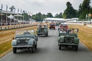 Land Rover:  la parade des 70 ans à Goodwood